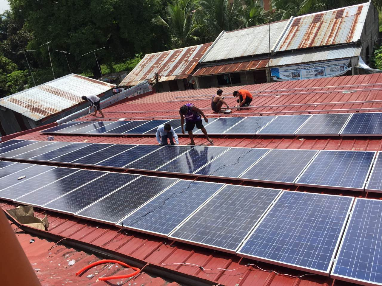 Philippine garment factory 40KW off - grid solar power generation system