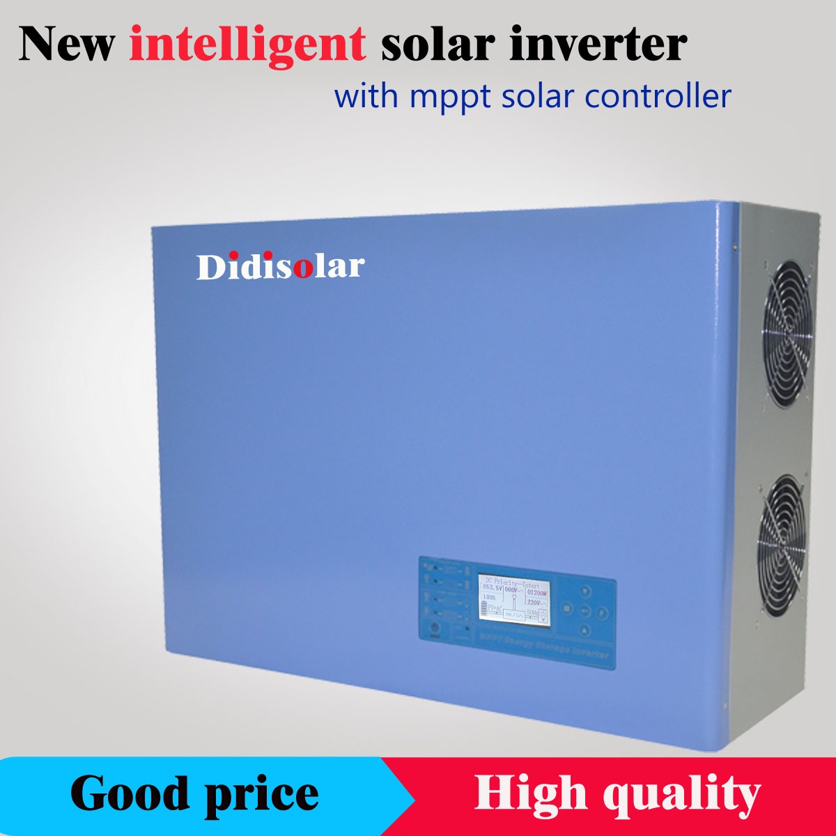 How to set the time, language, contrast, brightness and sound of Didisolar solar inverter
